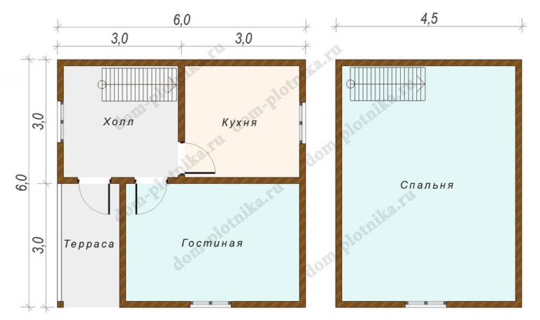 Дом 6х6 «Петровск»