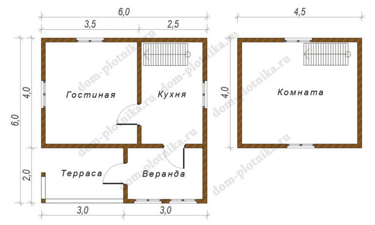 Дом 6х6 «Славянск»