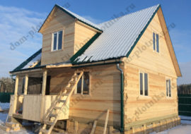 Фотоотчет Дома из бруса 7×9 «Мурманск» по «Инд. проекту»