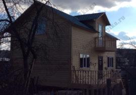 Фотоотчет Дома из бруса 6×10,5 м. «Псков»