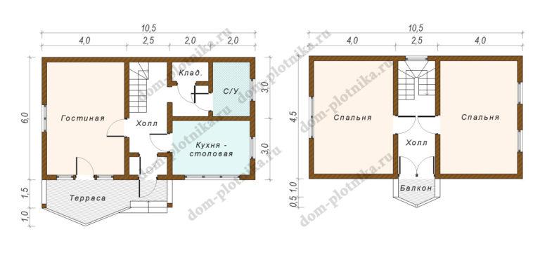 Дом 6х10,5 «Псков»
