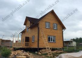 Фотоотчет дома из бруса 6х10,5 м. «Псков» — 2
