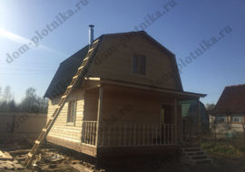 Фотоотчет дома из бруса 6х6 м. «Славянск»