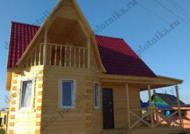 Фотоотчет дома из бруса 7х7 м. «Калуга»