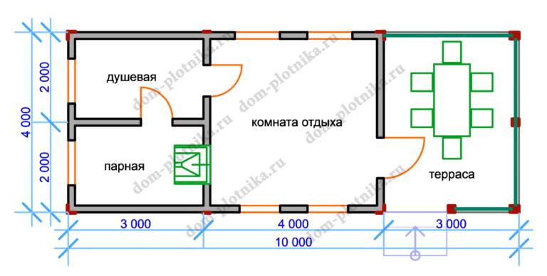 Баня 4х10 «Могилев»